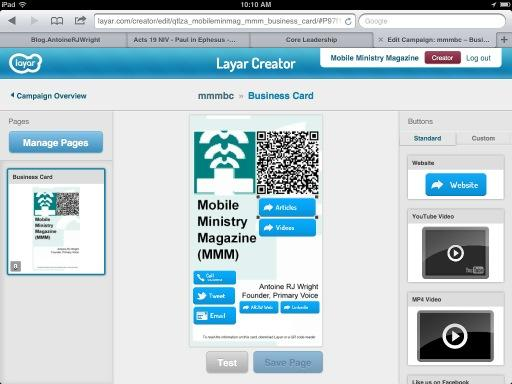 Screenshot of MMM using Layar Creator