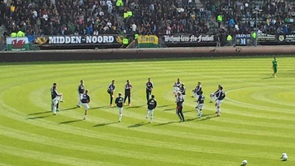 RT @AFCAjax: De Ajacieden voltooien de warming-up en zijn klaar voor ADO Den Haag - Ajax! Afgelopen seizoen werd het 0-2. #adoaja http:/ ...