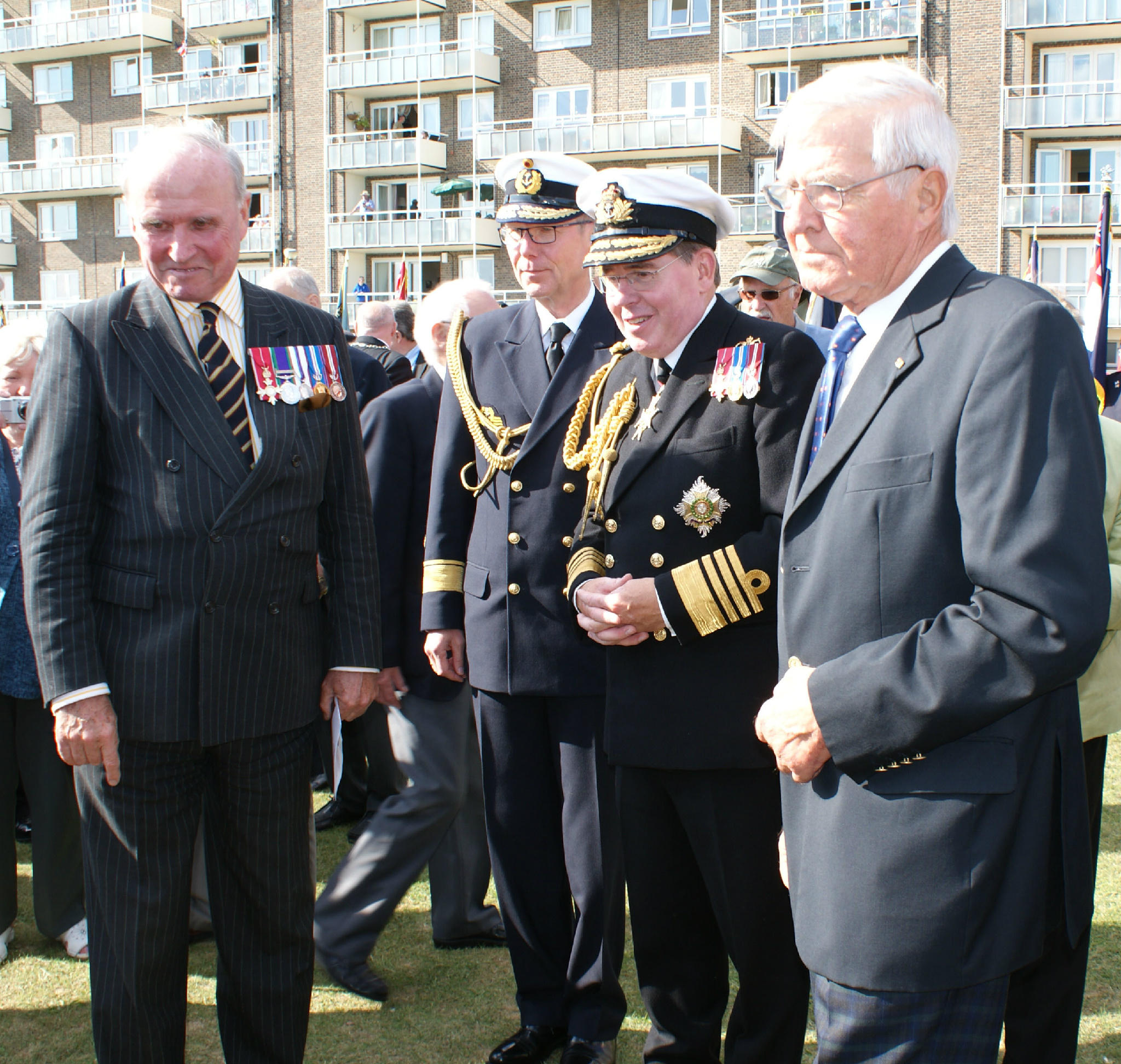 RT @ChannelDash: First Sea Lord reviews the memorial with the sons of Admirals Ramsay and Ciliax a poignant moment of Reconciliation http://t.co/ysKLkWNz