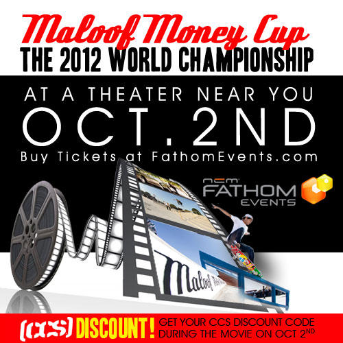 Bring your family & friends to see the biggest skateboarding event to hit theaters next TUE! @maloofmoneycup http://t.co/hWmXF3qj