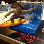The best cake ever! From the guys and gals in the production office! Going to eat the claws first!!!!