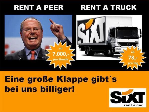 Barbara Schwede (@barbaraschwede): Sehr cool! @AliCologne: Sixt ist immer sehr kreativ - #Steinbrück (Picture) http://t.co/B1m3qVje