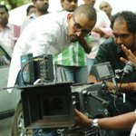 Meet my director #Krish and cinematographer #Gyanashekar. Standing in opposite spots though :-))