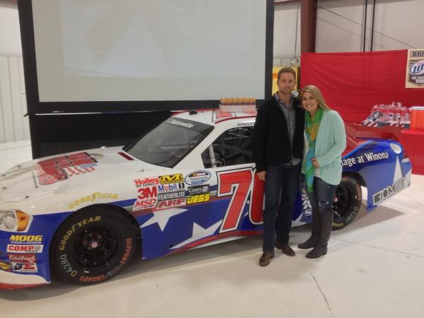 With Johanna long next to her car at the W4OH event http://t.co/iHRwqIwn