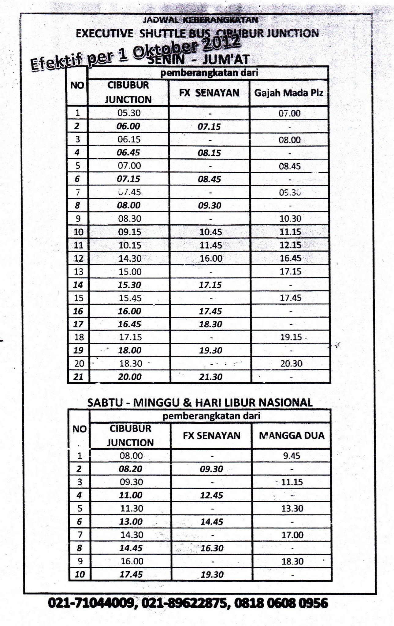 Jadwal Executive Shuttle Bus Cibubur Junction http://t.co/F4aBdp8n