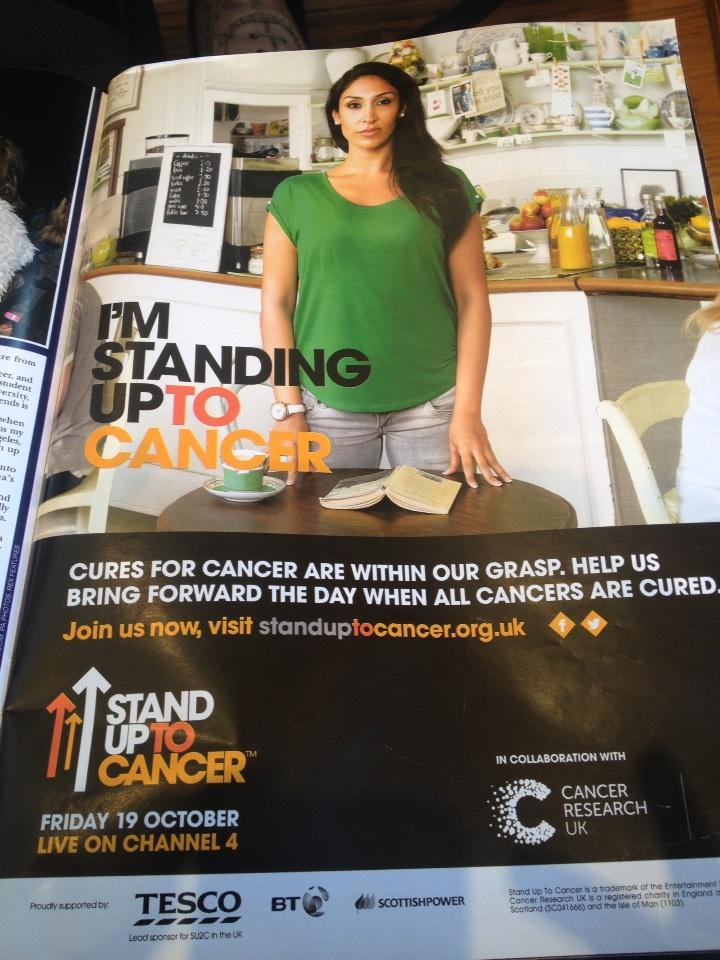 We should all be standing up to cancer on 19th Oct, Ch4! http://t.co/DiCWx9U0