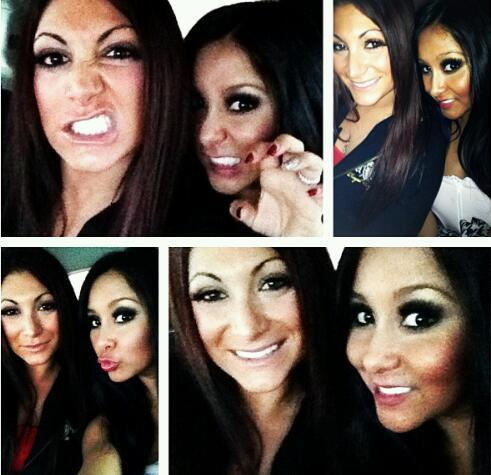 A collage of pics that @DeenaNicoleMTV and @Snooki took today. #MeatballLove http://t.co/88mAZ9Ie