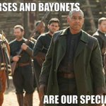 RT @NBCRevolution: #horsesandbayonets are our specialty...