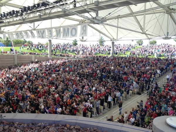 The crowd at the Henderson Pavilion in Henderson, NV for the Romney/Ryan rally: http://t.co/THy8Mfd1