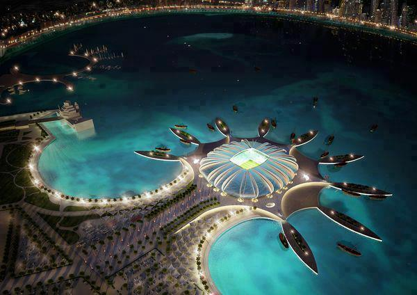 Katar'ın 2022 Dünya Kupası için yaptırdığı stadyum. #Muhteşem => http://t.co/aZTlXBdn