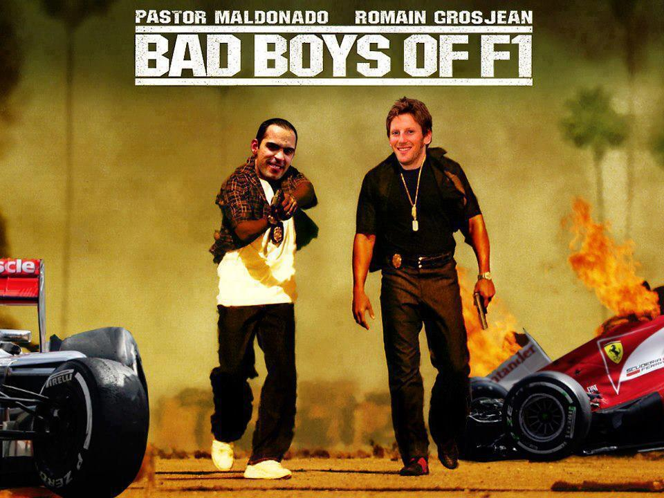 Bad Boys of F1 #Maldonado #Grosjean #HumourNoir http://t.co/iO5qHYwh