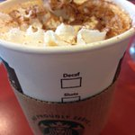 First pumpkin-spice latte of the season. I know, I'm also surprised it took me this long. #winter #psl http://t.co/mwhWYdzN