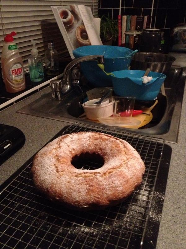 Paul C (@channp): All elements of @Nigella_Lawson 's Yogurt Pot Cake in one photo. Smells divine. http://t.co/E1XVCMcK