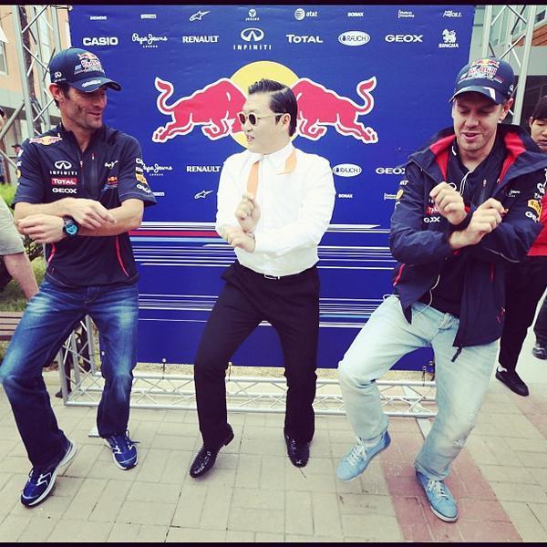 Lo que no saben Webber y Sebastian Vettel es que el baile del Gangnam Style est?basado en los pistones de Pepe http://t.co/pOeUkQQm