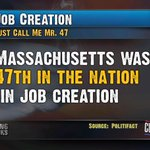 FACT: When @MittRomney was Governor of MA, it was ranked the 47th in the nation in job creation