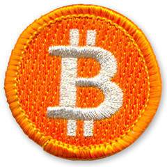"""Buy our """"Bought This Bitcoin Badge With A Bitcoin"""" badge with a BitCoin - now with BitPay! http://t.co/KvjKZX31 http://t.co/x6zHpUdg"""