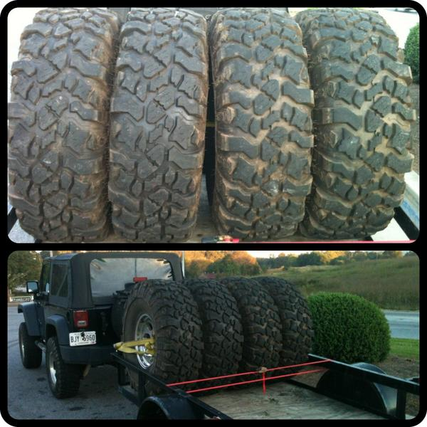 RT @TweetsByCD: Jeep Project Update: We have tires for the jeep on the way. 41.5x13.5x17lt  @jeepbuild #JeepLife #ProjectTastieCJ7 http://t.co/A86a48Wt