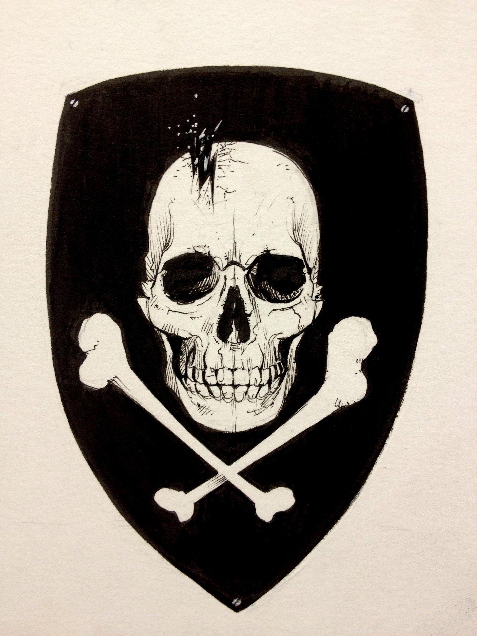Skull badge I drew for an RC airplane. http://t.co/bGzdIaEh