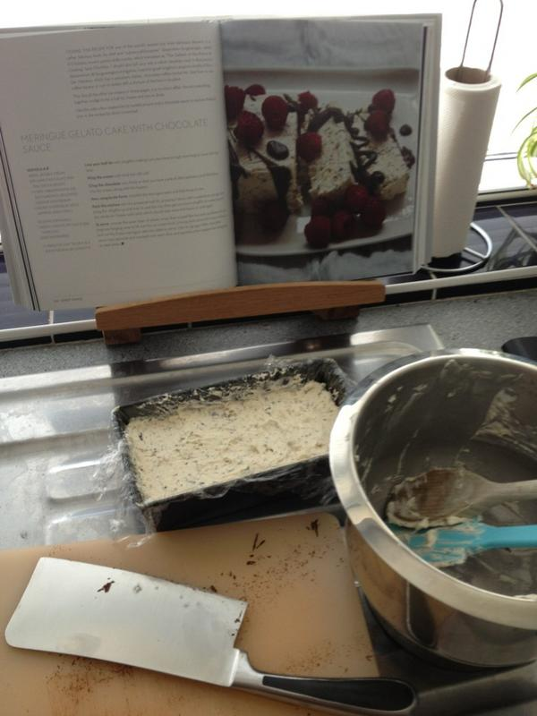 Paul C (@channp): Meringue gelato cake made - eight long hours til it's ready to eat... #nigellissima http://t.co/6JaeCBdU