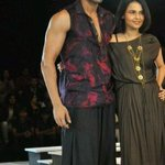 Sorry for the late post here's the pic of me with designer Asmita Marwah at the blenders fashion week! http://t.co/YqiZICw3