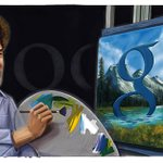 A birthday doodle for painting TV host Bob Ross is up on our U.S. homepage