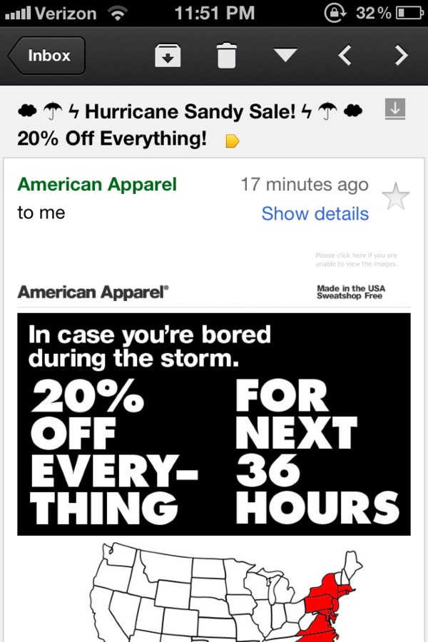 What a basket of dicks. Terrible. RT @whitneyhess: FUCK YOU @americanapparel! Please RT http://t.co/Uomm089b