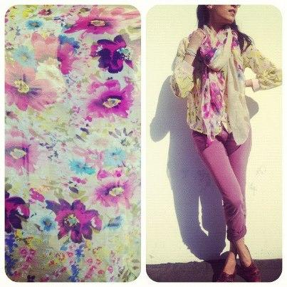 Retweet us for a chance to WIN this floral scarf! Winner announced on Wednesday morning at 10amPST. #Win #Contest http://t.co/MZ2V1A4N