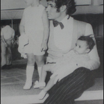 That's my sister and me with @SrBachchan chalo, who can guess on the set of which of dad's films this is taken?