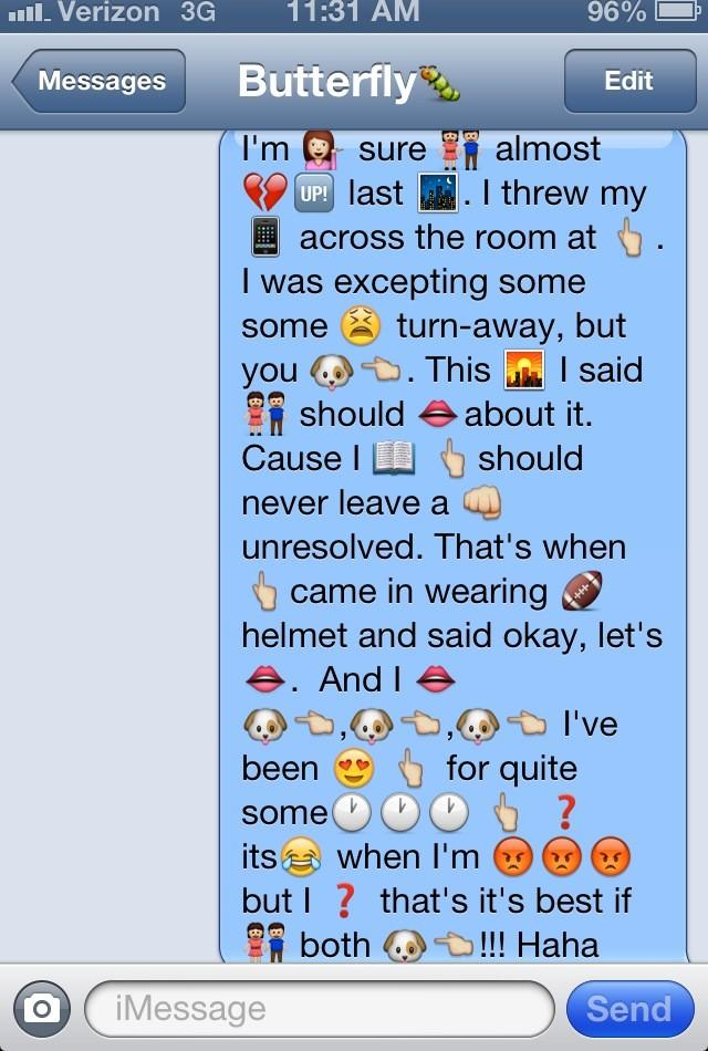 I love doing emoji text messages!! :) this one is Stay Stay Stay by Taylor swift http://t.co/KAedaD6Y