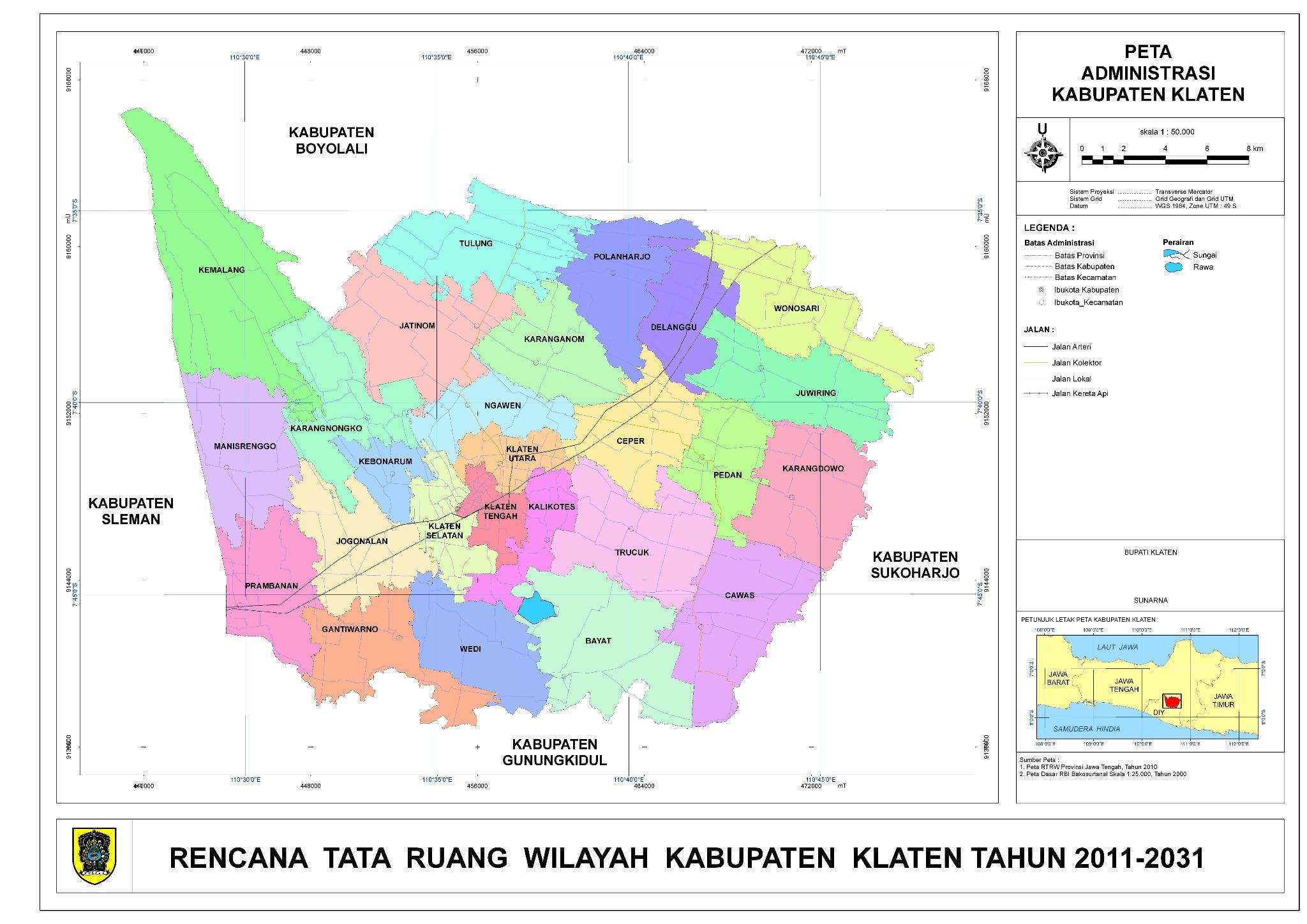 Rencana Tata Ruang wilayah Kabupaten #Klaten tahun 2011-2031 http://t.co/q6hb74vu
