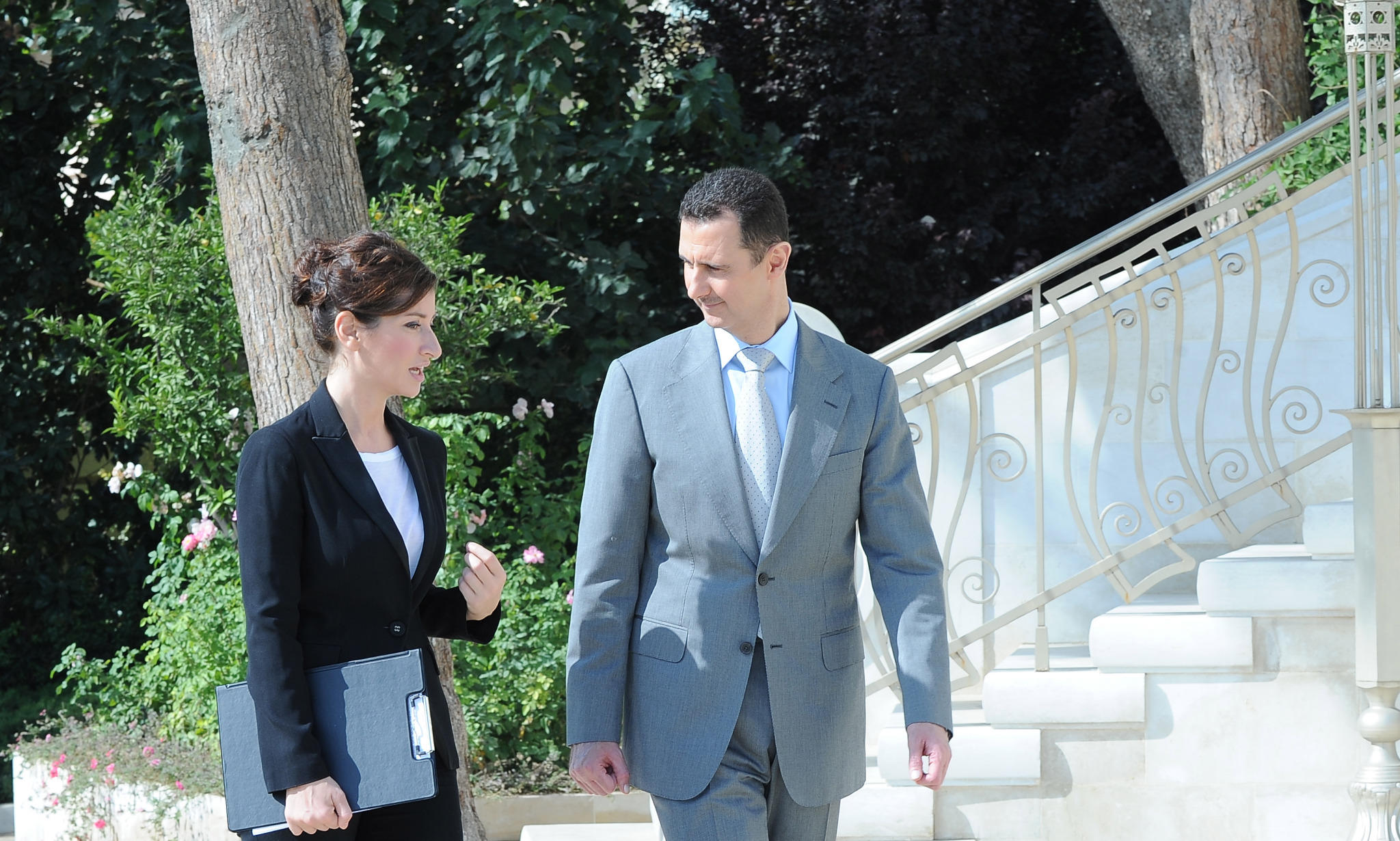 RT @RT_com: (PHOTO) RT host Sophie Shevardnadze taking exclusive interview with Syria's Bashar Al-Assad http://t.co/tkCyCgBa