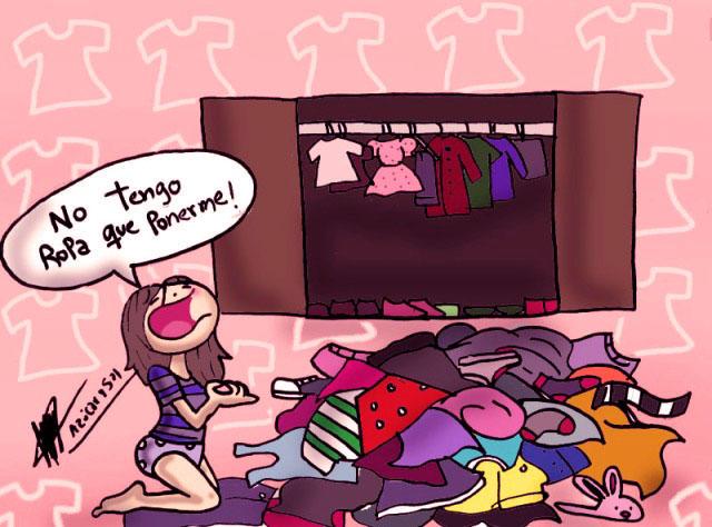 #SiUnaMujerDice 'No tengo que ponerme' Es por que tiene montañas de ropa! https://t.co/mdWUwR4u