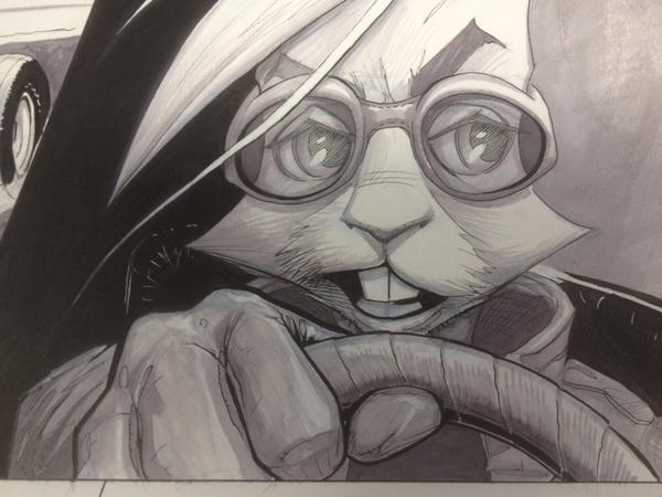 Drawing into the night on a comic book project. This fellow's name is Ret... http://t.co/QSNLrz1J