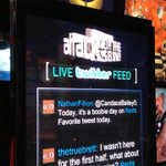 RT @LinerNotes: . @NathanFillion tweeted at @CandaceBailey5?! Darn right I'm putting it on the #AOTS Twitter Wall!
