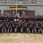 RT @BHTFLASHNEWS: His Majesty with the recruits at the Royal Bhutan Police Training Centre at Jigmeling, Gelephu