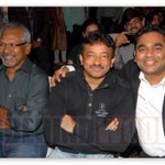 RT @RGVzoomin: Me with @arrahman  and Mani Ratnam! http://t.co/jsGgQT4L