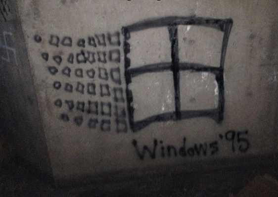 Theodora Oikonomides (@IrateGreek): #Greece Antifascism 101. TR @dmdmas How to correct a swastika on a wall. http://t.co/govhHtLp