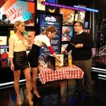 RT @vinceruth: Yup…@mattmira @CandaceBailey5 & @SaraUnderwood ate the meat. I tasted it, too…really not bad.