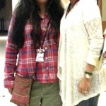 Bumped into my fav n the warmest @IamDeepaMehta @ our hotel.looking forward to our evening after my screening today !