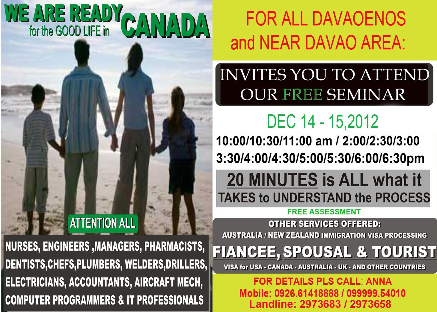 Aspire One Global Visa Services invites you to attend our Free Seminar this Dec 14 and 15, 2012 http://t.co/8fesA0U1