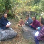 @tsheringtobgay: 'Zomdu' with Sherpa community in Shama :)