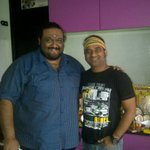 With Director Shiva at the pooja of Thala Ajith's new film in my studio..!! Loved the narration of Mr.Shiva's story.!!