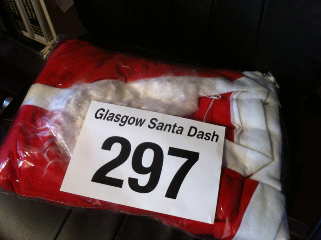 Glasgow Santa Dash suit