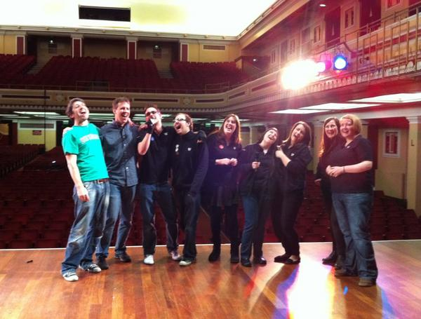 Amazing blog my crhisthmas book wrapping up the newcastle event on a high note with the waterstones staff on the same stage where the beatles playedtpt2rbyqkw4 solutioingenieria Images