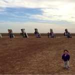 RT @TraceAyala: Sophia's first trip to the Cadillac Grave Yard in Amarillo TX! http://t.co/Y7pqwUuy