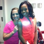 RT @marylouretton: Behind the scenes @KatieCouric great seeing you @gabrielledoug