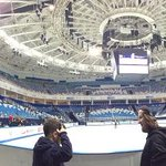 #Sochi2014 venue sneak peek RT @USFigureSkating Our first look inside the Iceberg Skating Palace