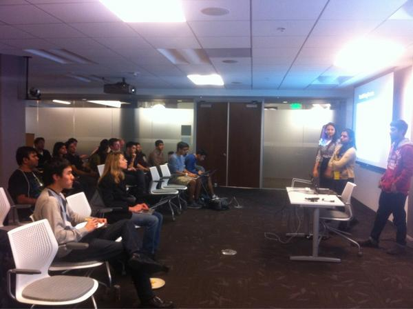 Olivia Watkins (@olivia): UC Berkeley project demo night at Twitter HQ! #ucbtwitterdemos http://t.co/kFhxMRf3