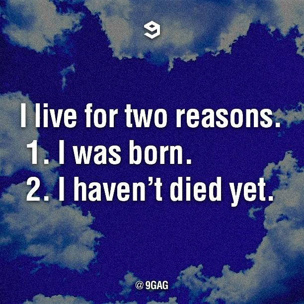 I live for two reasons. http://t