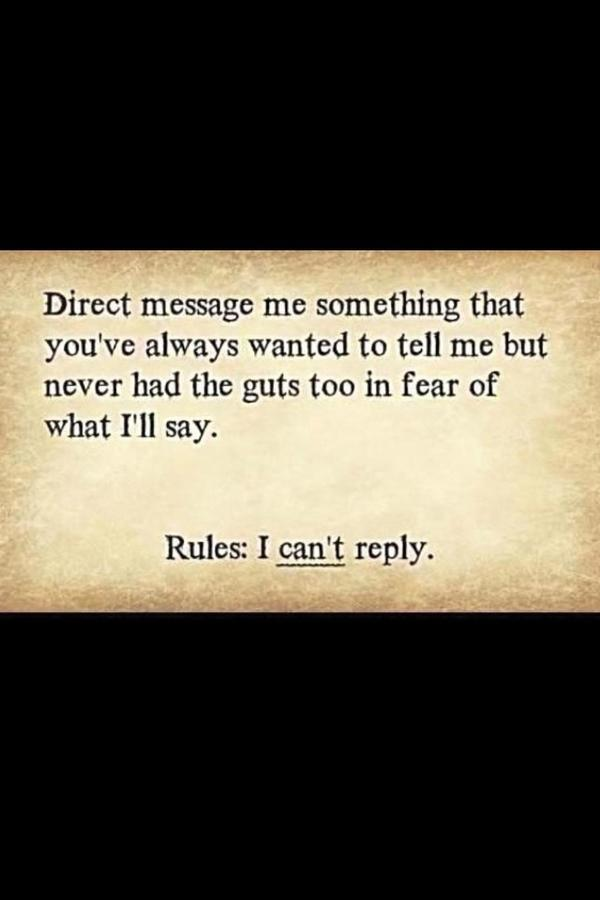 Chris (@CRRCDriver): Everyone feel free to do this! Truth is in the DM!!! http://t.co/5LEO8ENV